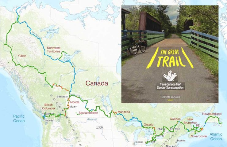 Map Of Trans Canada Trail TransCanada Trail – BC – Let's Go Biking!