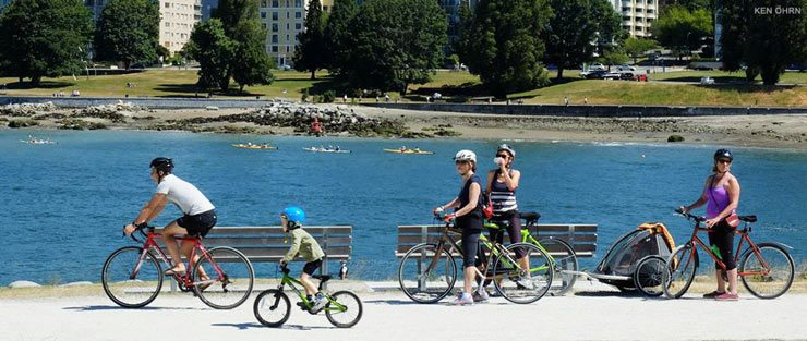 Cyclists at Vanier Park